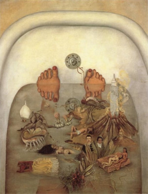 What I Saw in the Water, 1938 by Frida Kahlo