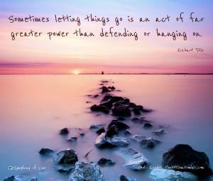 Sometimes Letting Things Go