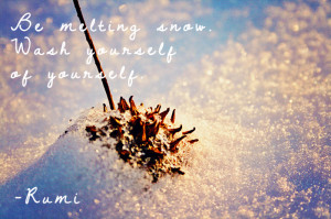 Melting Snow Quote and Snow