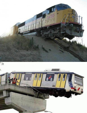 Funny train accidents