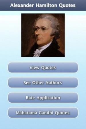 View bigger - Alexander Hamilton Quotes for Android screenshot