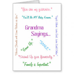 Grandma Sayings...