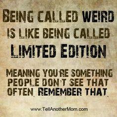 weirdo, coo coo & strange quotes