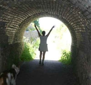 Light at the end of the Tunnel. Source: Living the Simple Vintage Life