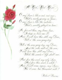 Shakespeare Sonnet – Artistic Rose Script / Gold accents