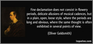 does not consist in flowery periods, delicate allusions of musical ...