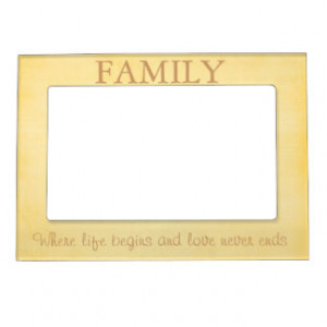 Yellow Family Quote Frame Magnet