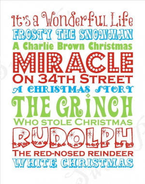 Sweet P's original- Christmas Movies Printable