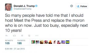 Donald Trump: Trump Trump Trump Trump Trump Trump Trump. TRUMP!