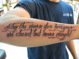 Sailor's always come up some of the coolest sayings and quotes! Thanks ...