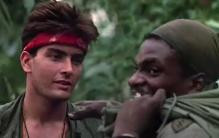 Charlie Sheen and Keith David in Platoon