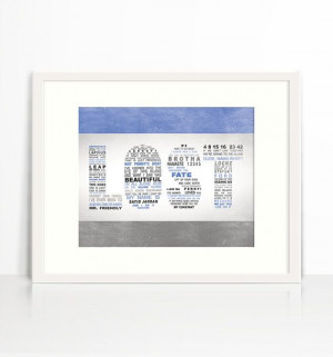 LOST TV Series Memorable Quotes Wall Art by rpdesignandbranding, $25 ...