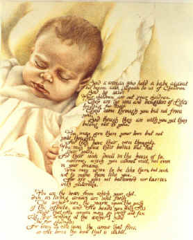 This was a portrait of a friend's baby with herfavorite poem added in ...