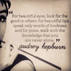 Audrey Hepburn Beautiful Eyes quote