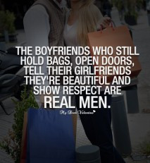 Boyfriend Quotes - The boyfriends who still hold bags