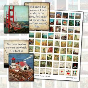 San Francisco Quotes and Photography Scrabble sheet .75 x .83 digital ...