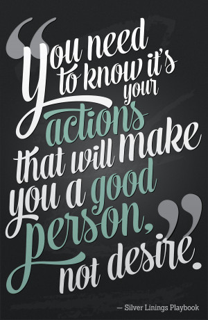 ... will make you a good person.