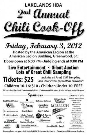 Lakelands HBA 2nd Annual Chili Cook-off Poster (1)