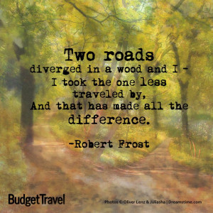 Two Roads Diverged In A Yellow Wood Quote
