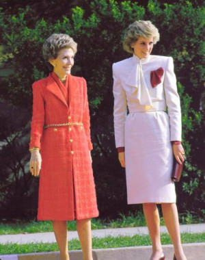 Diana and First Lady Nancy Reagan