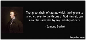 That great chain of causes, which, linking one to another, even to the ...