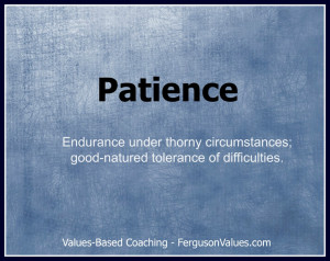 ... Quotes For You: The Value Of Patience In Leadership Quote In Blue
