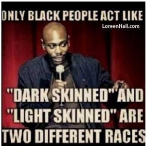 Only black people act like