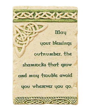 Take a look at this 'May Your Blessings' Wall Plaque on zulily today!