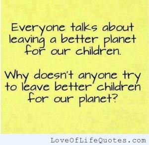 Better children or a better planet