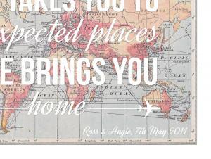 homepage > OF LIFE & LEMONS > LOVE QUOTE MAP PRINT