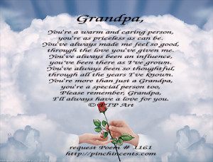 Back > Quotes For > I Miss You Grandpa Poems