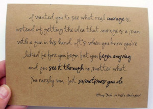 proud of you to kill a mockingbird quote inspirational card top fold ...