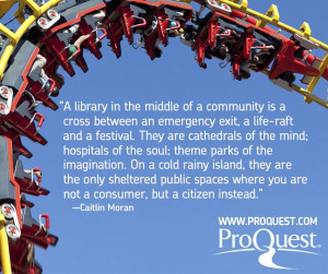 Library quote from Caitlin Moran.