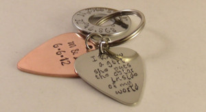 Love quotes Guitar Pick keychain-Perfect Gift for a Grooms Wedding ...