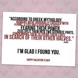Greek Mythology Valentine's Day Card by Rubybirdie on Etsy, $4.00