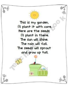 culminating activity. This could be used for when we plant our garden ...