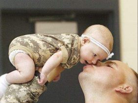 ... – first introductions of military dads and their new babies
