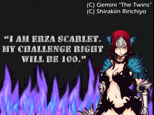 Erza Scarlet Quote Anime Animegirl Titania Erzascarlet