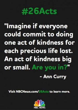 ... with Kindness and honors every victim of Sandy Hook Elementary School