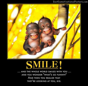 smile-looking-monkey-funny-best-demotivational-posters