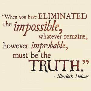 Sherlock Holmes - Eliminate the Impossible