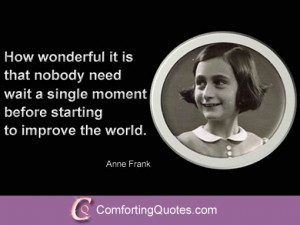 Inspirational Quote from Anne Frank
