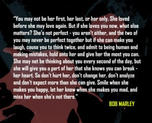 bob marley picture quote on love