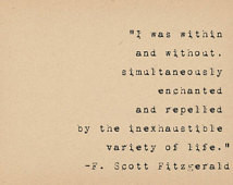 Scott Fitzgerald Quote - Variety of Life Inspirational Quote ...
