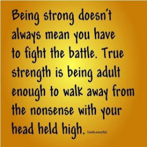 Being strong doesn't always...
