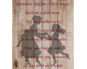 Grandma Quote Print...
