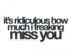 Ridiculous How Much I Freaking Miss You: Quote About Its Ridiculous ...