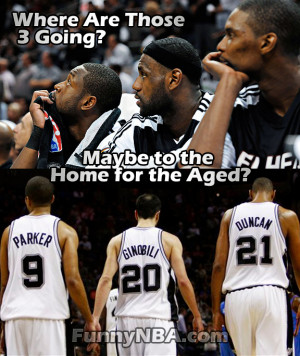 Why The Spurs Big-3 didn't show up the game?
