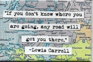 If you don't know where you are going, any road will get you there ...