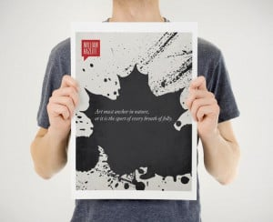 Prints are available in various colors on Design Different shop.